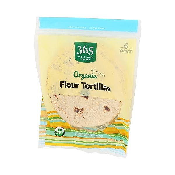 Organic Tortillas, Flour (6 Tortillas), 12 oz 4