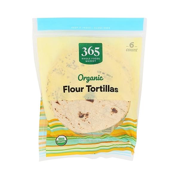 Organic Tortillas, Flour (6 Tortillas), 12 oz 1