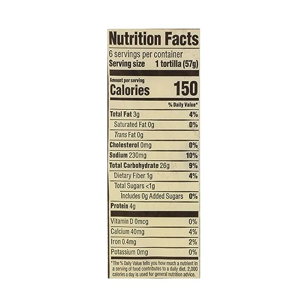 Organic Tortillas, Flour (6 Tortillas), 12 oz 10