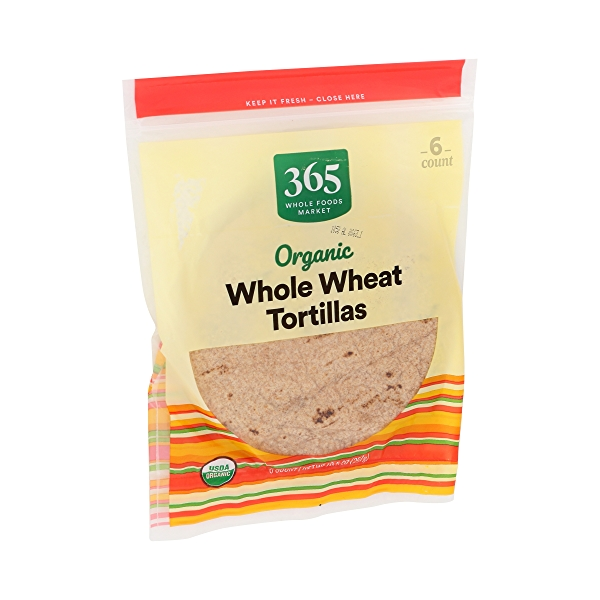 Organic Tortillas, Whole Wheat (6 Tortillas), 10.5 oz 2