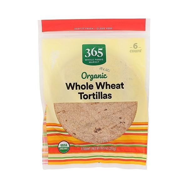Organic Tortillas, Whole Wheat (6 Tortillas), 10.5 oz 3