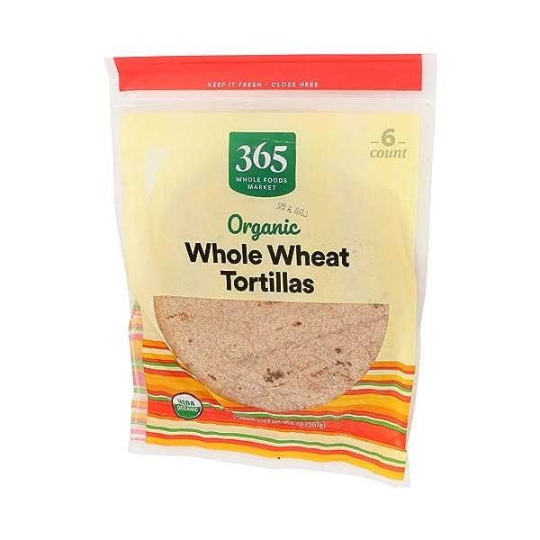 Organic Tortillas, Whole Wheat (6 Tortillas), 10.5 oz 4