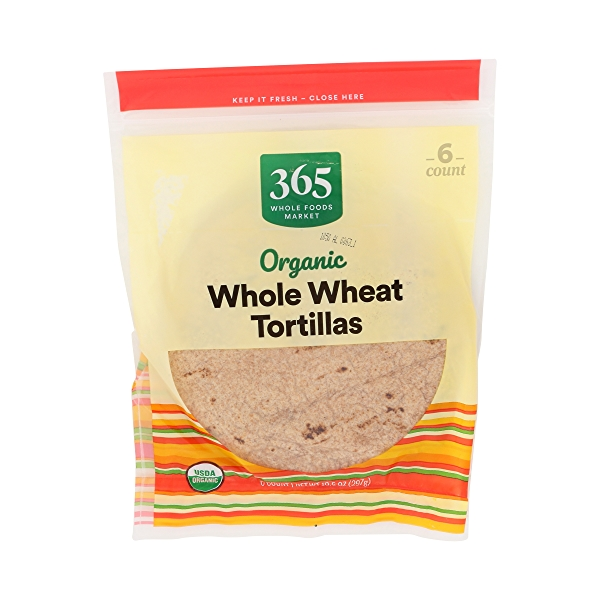 Organic Tortillas, Whole Wheat (6 Tortillas), 10.5 oz 1