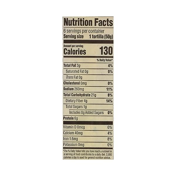 Organic Tortillas, Whole Wheat (6 Tortillas), 10.5 oz 10