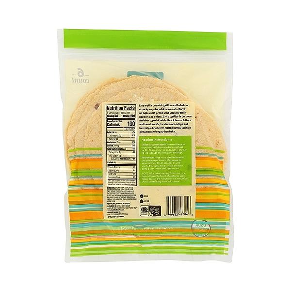 Organic Tortillas, Flour & Corn (6 Tortillas), 10.5 oz 7