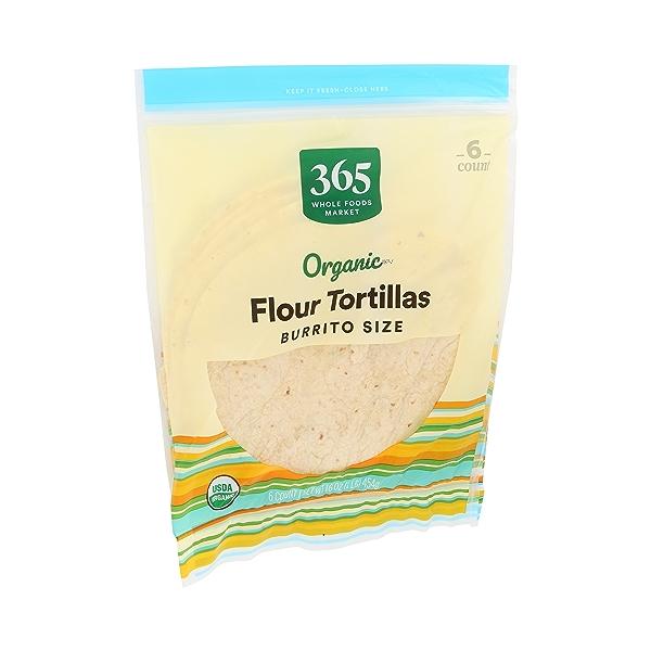 Organic Tortillas, Flour - Burrito Size (6 Tortillas), 16 oz 2
