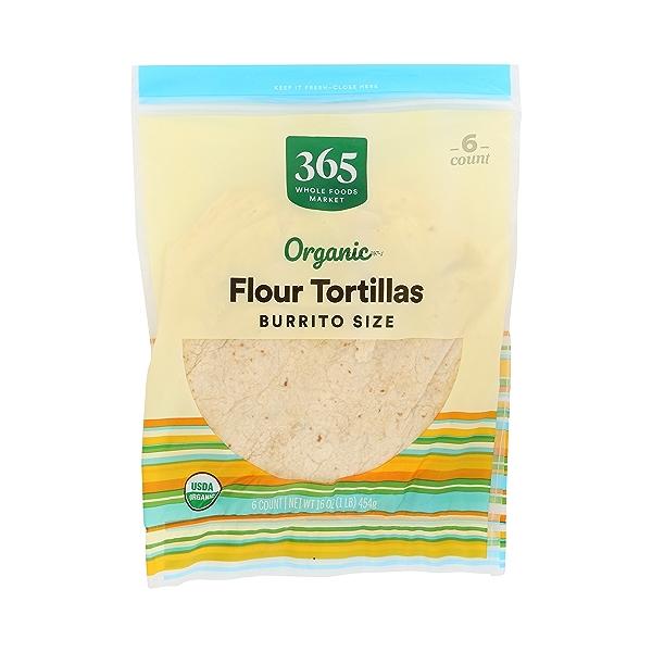 Organic Tortillas, Flour - Burrito Size (6 Tortillas), 16 oz 3