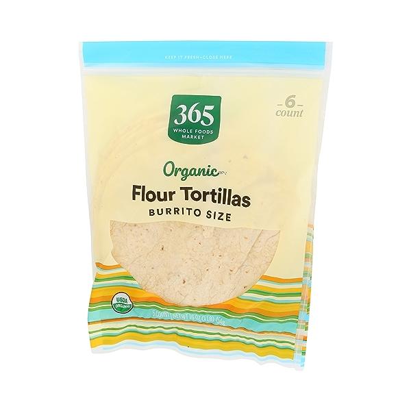 Organic Tortillas, Flour - Burrito Size (6 Tortillas), 16 oz 4