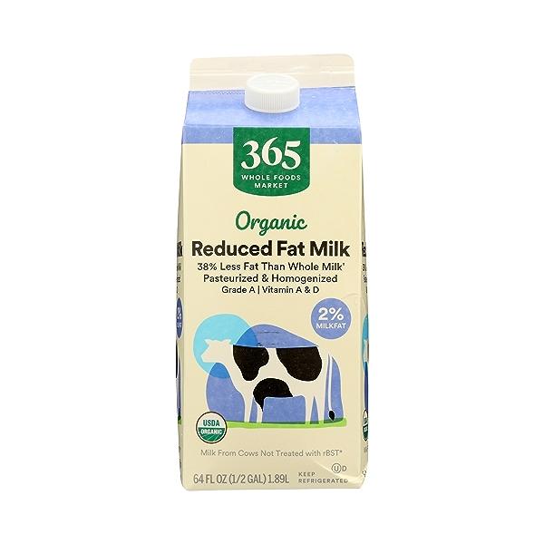 Organic Grade A Milk, Reduced Fat, 64 fl oz 3