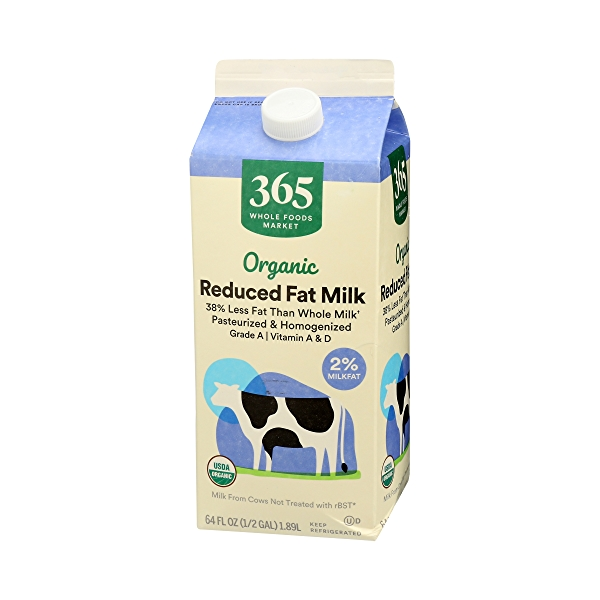 Organic Grade A Milk, Reduced Fat, 64 fl oz 4
