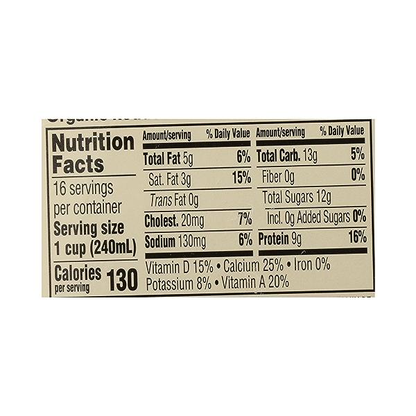Organic Grade A Milk, Reduced Fat, 1 gallon 10