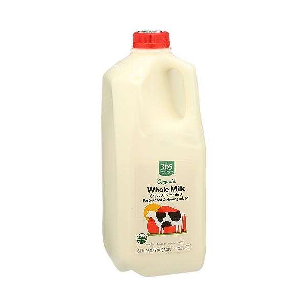 Organic Grade A Milk, Whole, 64 fl oz 2