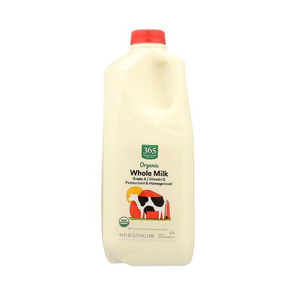 Organic Grade A Milk, Whole, 64 fl oz 3