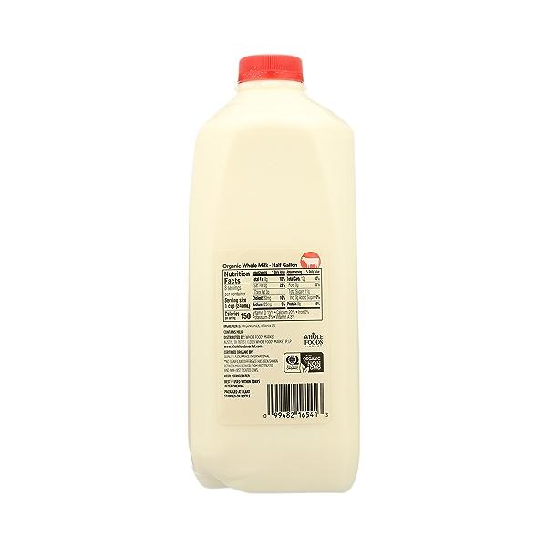 Organic Grade A Milk, Whole, 64 fl oz 7