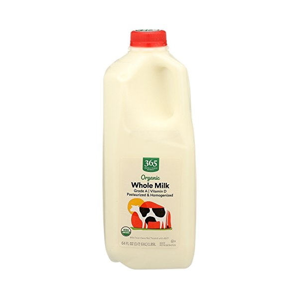 Organic Grade A Milk, Whole, 64 fl oz 1
