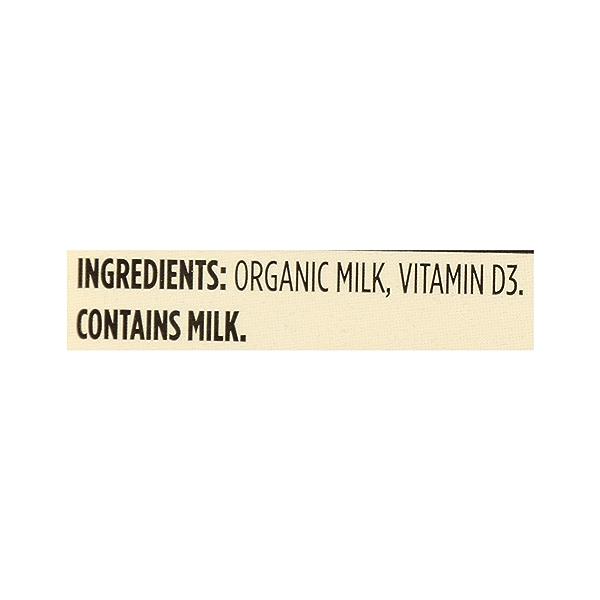 Organic Grade A Milk, Whole, 1 gallon 12