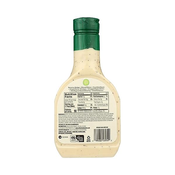 Organic Salad Dressing, Ranch, 16 fl oz 7
