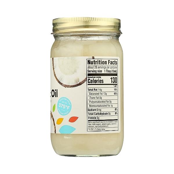 Organic Coconut Oil - Expeller Expressed, 14 fl oz 8