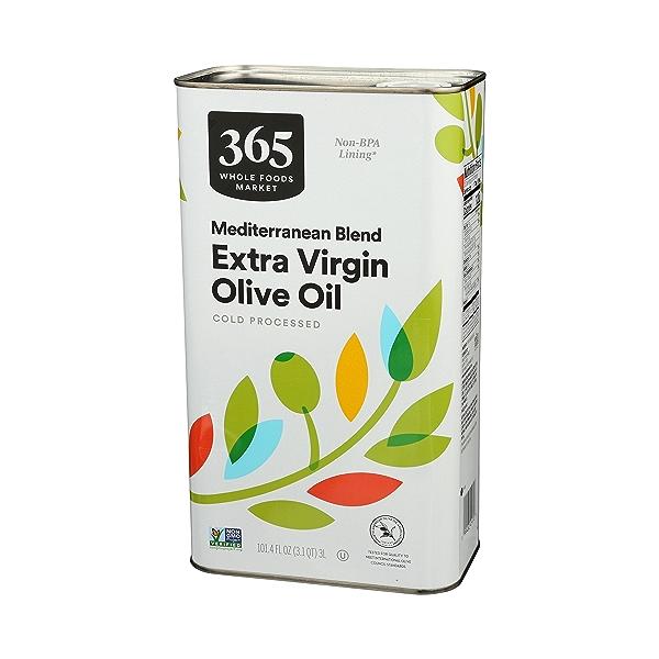 Extra Virgin Olive Oil - Cold Processed, Mediterranean Blend, 101.4 fl oz 4