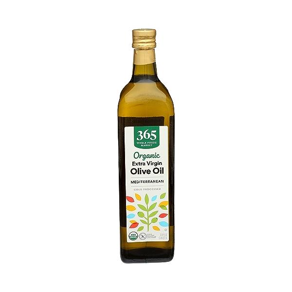 Organic Extra Virgin Olive Oil - Cold Processed, Mediterranean, 33.8 fl oz 1
