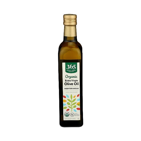 Organic Extra Virgin Olive Oil - Cold Processed, Mediterranean, 16.9 fl oz 1
