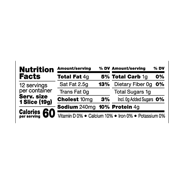 Organic American Cheese Slices 8oz, 12 slices 3