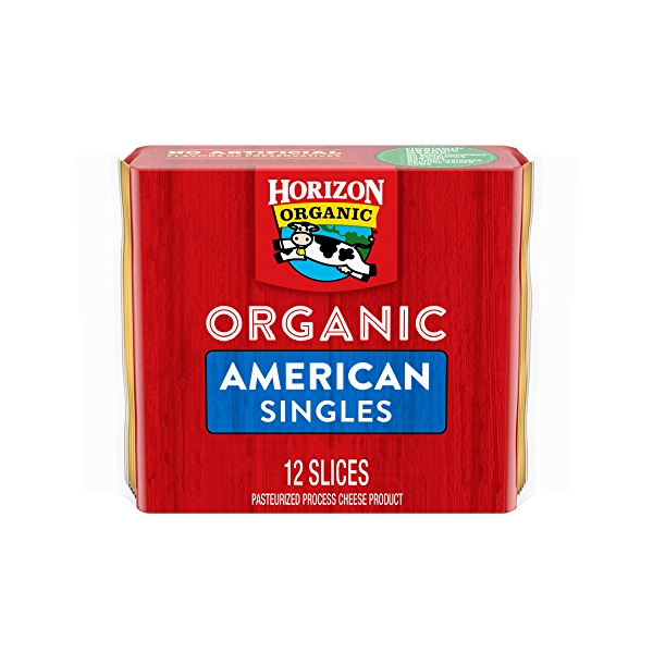 Organic American Cheese Slices 8oz, 12 slices 1