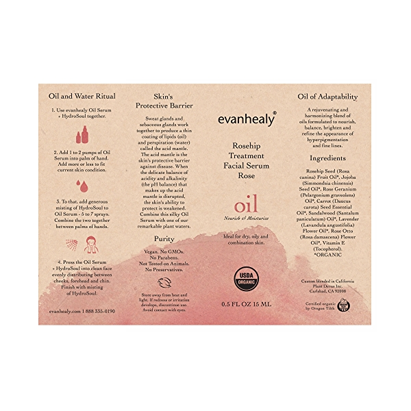 Rosehip Treatment Serum - Rose, 0.5 fl oz 2