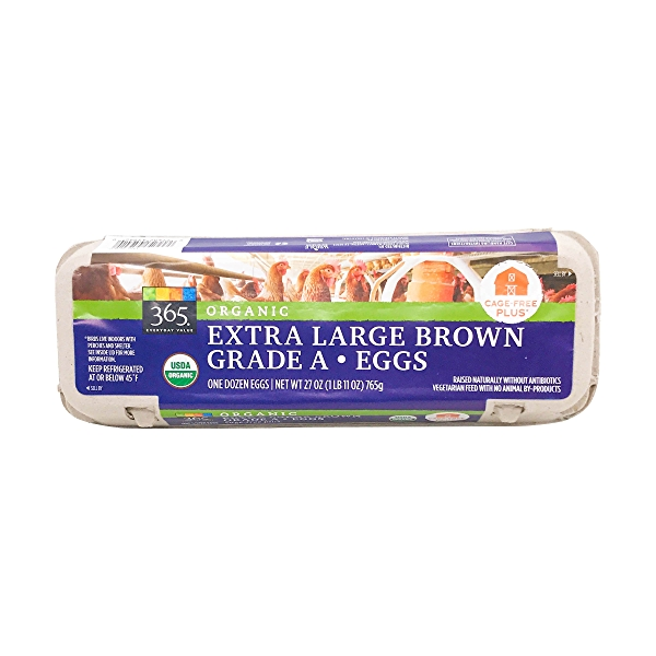 Organic Extra Large Brown Eggs 1