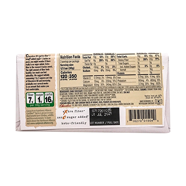 Salted Caramel Dark Chocolate Bar, 3.2 oz 2