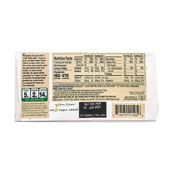 Dry Roasted Pistachio Milk Chocolate Bar, 3.2 oz 2