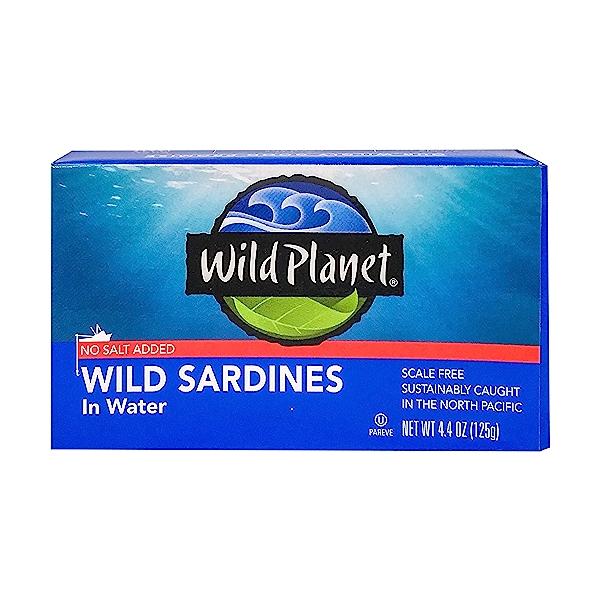 Wild Sardines in Water No Salt 1