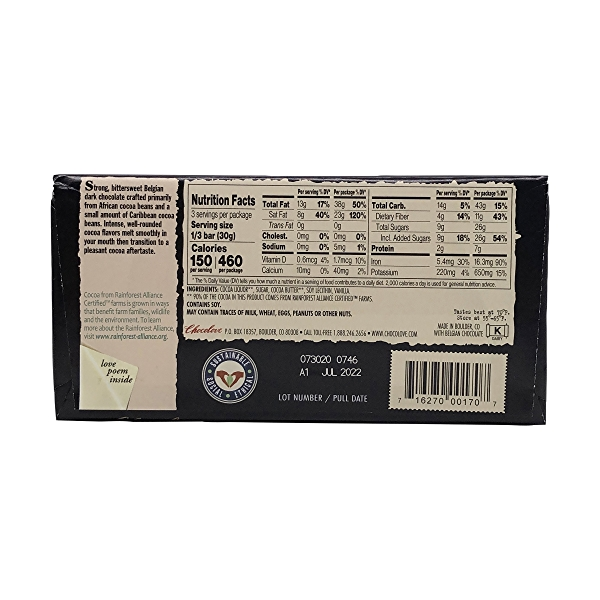 70% Strong Dark Chocolate, 3.2 oz 2
