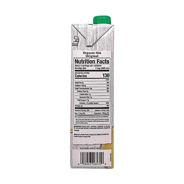 Pacific Natural Foods Organic Original Oat Beverage, 32 fl oz 2