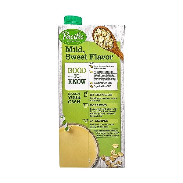 Pacific Natural Foods Organic Original Oat Beverage, 32 fl oz 3