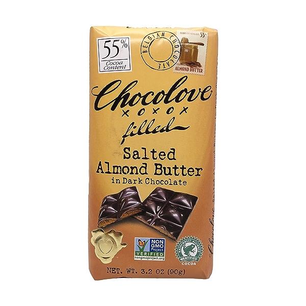 Salted Almond Butter In Dark Chocolate, 3.2 oz 1