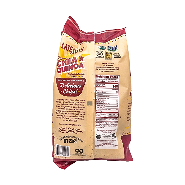Chia & Quinoa Tortilla Chips, 11 oz 2