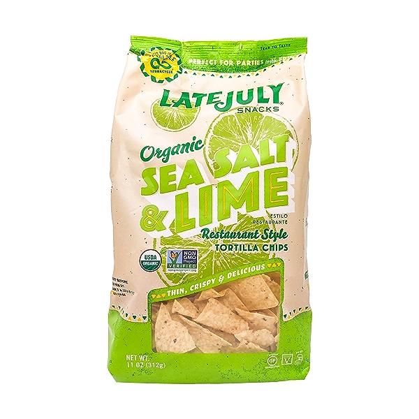 Organic Sea Salt & Lime Tortilla Chips, 11 oz 1