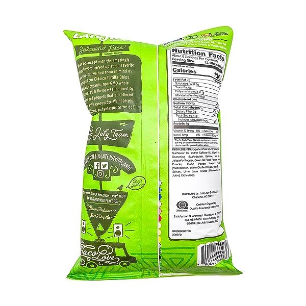 Jalapeno Lime Tortilla Chips, 5.5 oz 2