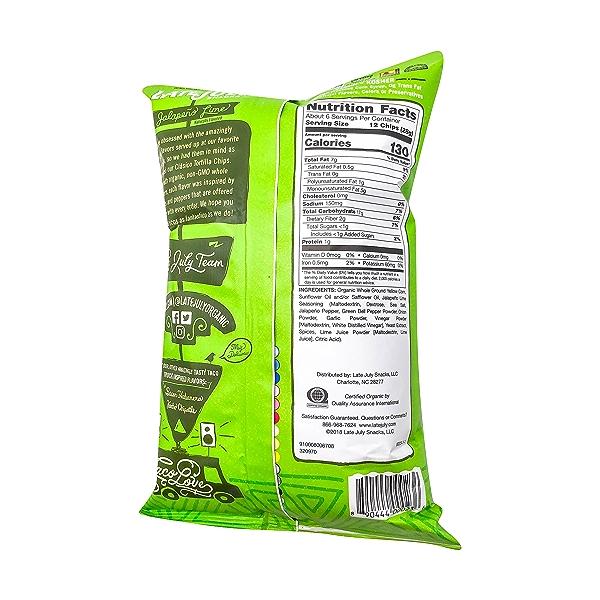 Jalapeno Lime Tortilla Chips, 5.5 oz 3