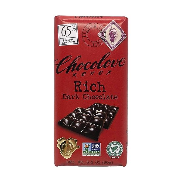 65% Cocoa Rich Dark Chocolate Bar, 3.2 oz 1