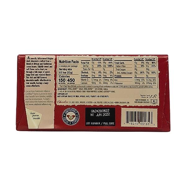 65% Cocoa Rich Dark Chocolate Bar, 3.2 oz 2