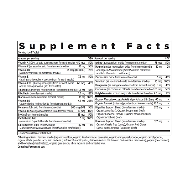 55+ Every Woman™'s One Daily Multivitamin, 48 vegetarian tablets 2