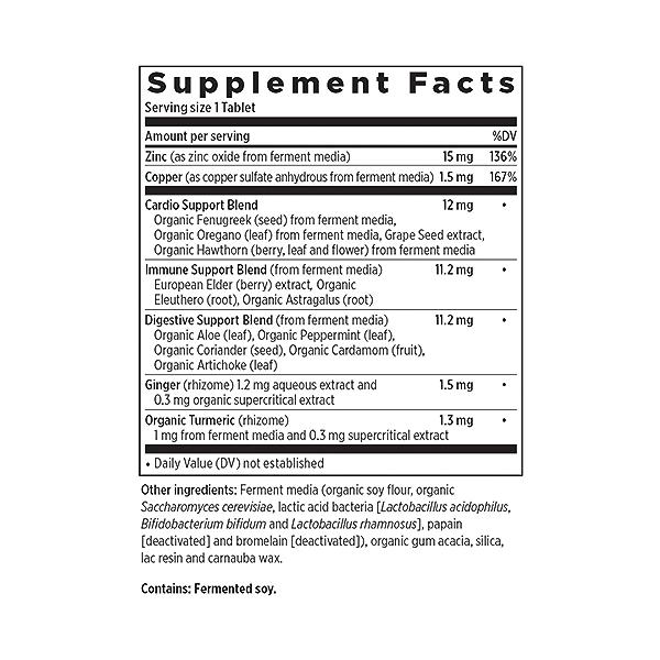 Zinc Food Complex, 60 vegetarian tablets 2
