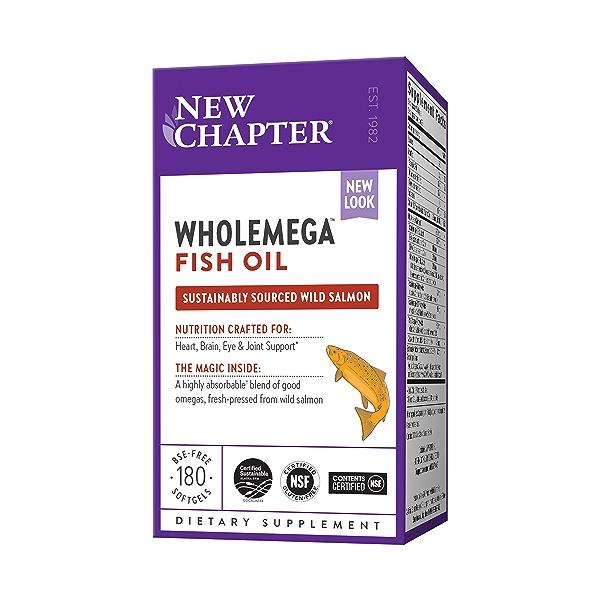 Wholemega™ Fish Oil, 180 bse-free softgels 1