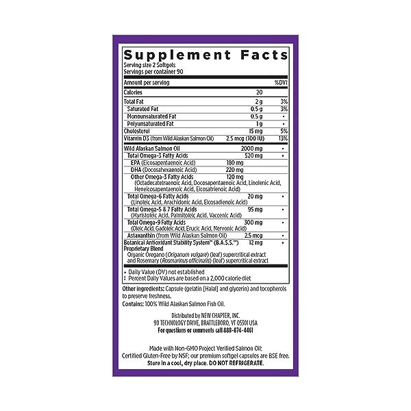 Wholemega™ Fish Oil, 180 bse-free softgels 5