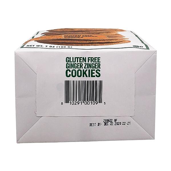 Gluten Free Ginger Zinger Cookies, 7 oz 5