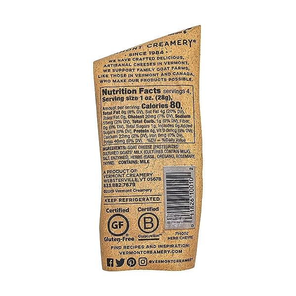 Herb Chevre Fresh Goat Cheese, 4 oz 2