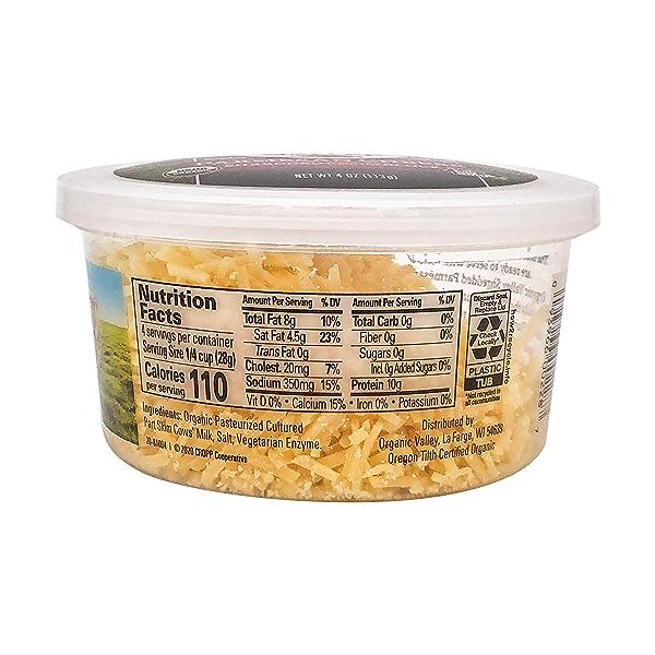 Organic Shredded Parmesan Cheese, 4 oz 2