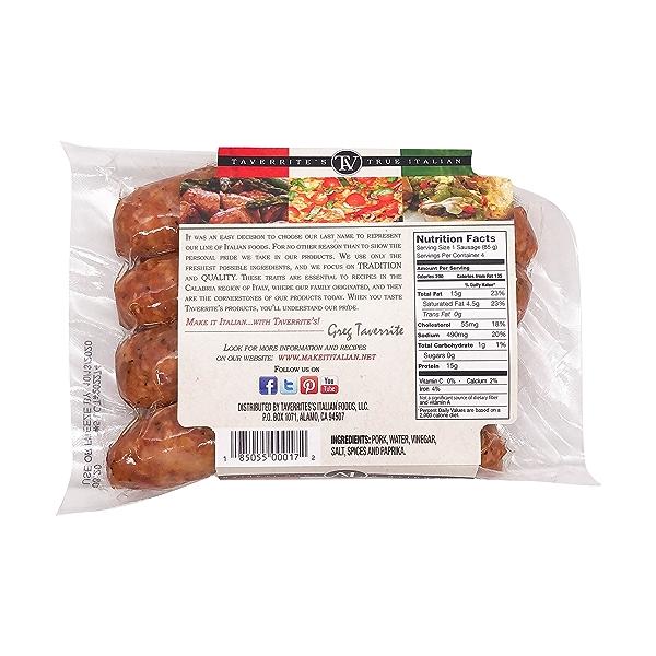 Mild Calabrese Italian Pork Sausage 2